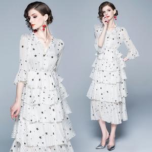 Gonna tonda New Summer abbigliamento donna francese piccolo abito boudoir foglia di loto bordo vestito da fata
