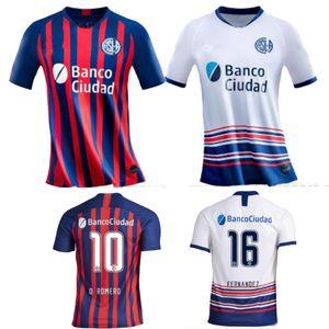 2020 San Lorenzo Home Red Away White BLANDI мужская Футбольная майка BELLUSCH CERUTTI футбольная рубашка униформа camisa de futebol 2021 размер S-2XL
