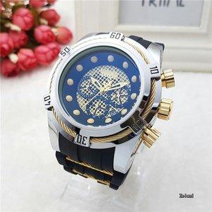 2020 New Top Brand Luxury Fashion Mens Watches Rubber Band Sports Chronograph Quartz Watch Men Relogio Masculino Luminous Wirstwatch