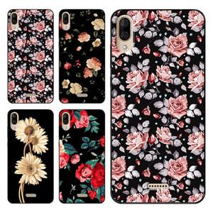 Wiko Y50 Y60 Y70 Y80 View3 Lite Funda için Çiçek Telefon Kılıfı Yumuşak TPU Kapak, Sıcak satış