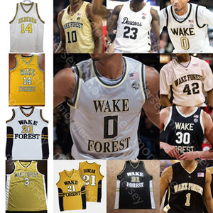Personnalisé Wake Forest Demon Deacons Basketball Jersey NCAA John Collins Chris Paul Jeff Teague Ish Smith Josh Howard Muggsy Bogues