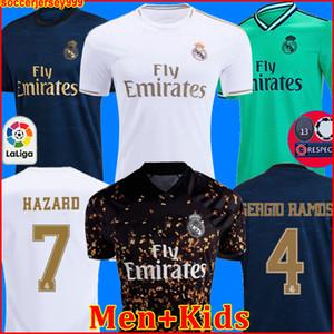HAYRAN OYUNCU SÜRÜMÜ Real Madrid futbol formaları 19 20 TEHLİKE MILITAO camiseta 2019 2020 VINICIUS futbol gömlek erkekler + çocuklar kiti üçüncü ÜST