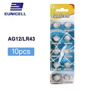 بطاريات زر خلية 10PCS AG12 LR43 SR43 260 386 1.5V البطارية القلوية ووتش عملة خلية زر البطاريات البطارية