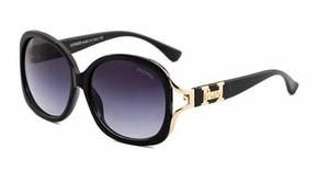 9089 Gafas de sol redondas ópticas de metal Steampunk Hombres Mujeres Gafas Diseñador de la marca Gafas de sol retro vintage UV400