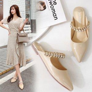 Pretty2019 Semelle Xia Drag Back Air Eau forte Sharp Plat Simple Chaussure Femme