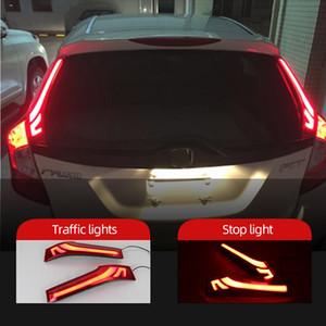 Luz do carro para Honda Fit Jazz 2014 2015 2016 2017 2018 LED pára-choques traseiro cauda lâmpada luz de nevoeiro luzes de freio
