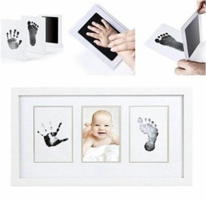 6 colors Non-Toxic Baby Handprint Footprint Imprint Kit Baby Care Casting Parent-child hand-foot stamp Infant Keepsakes Toys YYA16