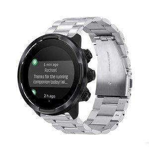 Ремешок для часов из нержавеющей стали для Suunto 9 metal Watch Band наручный ремешок браслет 24 мм черный серебристый с адаптером Бесплатная доставка