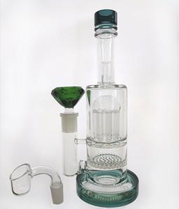 TR Neue Bong mit Quarzglas-Wasserpfeife Räucherstäbchen Ölarmwabe Perc Bubbler Tube Tabacco Wasserpfeife berauschendes 14,4-mm-Gelenk