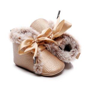 0-24M Baby Girl Anti-slip Shoes Children's PU High-tops Sneaker Infant Toddlera Girls Winter Velvet Warm Shoes