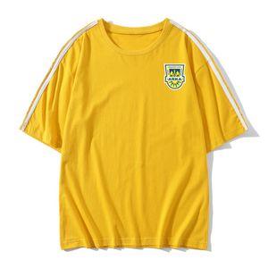 Arka Gdynia Mens-Fußball-Fußball-T-Shirt für Erwachsene Kurzarm Fußball-Trikots und wiesen Freizeit Marken-Fußball-T-Shirt Männer-T-Shirts
