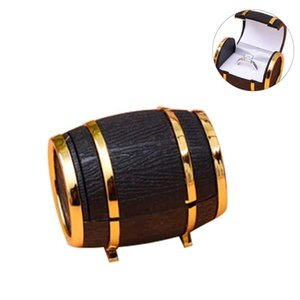 Earrings Fashion Holder Case Velvet Beer Bucket Jewelry Display Portable Proposal Ring Box Wedding Engagement Storage Gift