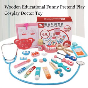 kids Wooden toy Educational Pretend Play funny real life simulation game Cosplay Doctor Game pretend Toy for kids children gift