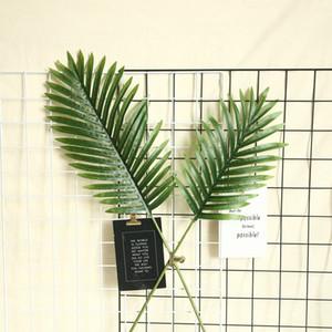 Verde Scutellaria palma Madagascar hojas de palma de flores Centro de bricolaje Accesorios de boda Plants Pared falso artificial de plantas
