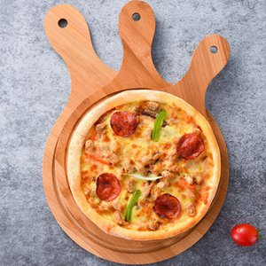 Bamboo baking tray Pizza board bread board Household baking wooden steak tray Tray Bamboo board