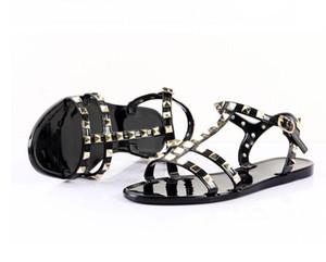 Горячая распродажа-2019 мода женщины лук заклепки крест сандалии шпильки пляжная обувь летние заклепки тапочки стринги ню