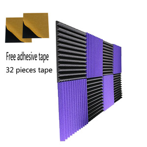 8 PCS Sound Proof Foam 12 '' * 12 '' * 1 '' pollici Wedge Acoustic Foam con nastro adesivo