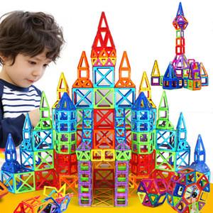 184pcs-110pcs Mini Manyetik Tasarımcı İnşaat Seti Model Oluşturma Oyuncak Plastik Manyetik Bloklar Eğitici Oyuncaklar İçin Çocuk Gif
