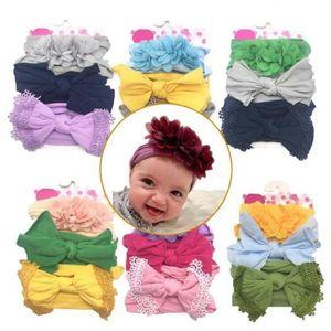 Bebê recém-nascido hairband Meninas largas Nylon Bow Headband Super Macio Knot Bow Nylon cabeça Wraps Turban Bow Tie borla Novos acessórios para bebé C611