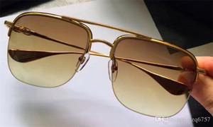 Nouveau lunettes de soleil pour hommes de luxe Chrome New York lunettes de soleil de design carré demi cadre vapeur style punk uv400 lentille protection extérieure lunettes