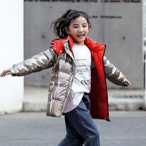 2019 niños calientes del invierno chaquetas para niñas collar de oro Niños Prendas de abrigo con capucha Abrigo para niños adolescentes Parka ropa impermeable