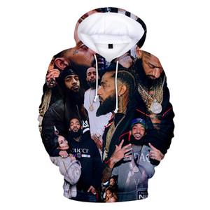 Aikooki Novo Nipsey Hussle Hoodie Homens / Mulheres Moda Casual Harajuku Hip Hop Moletom Com Capuz Impressão Nipsey Hussle Pullover Camisolas
