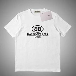 Balenciaga 2020 Mens di marca T-shirt Tees lettera della stampa maniche corte Pullover Moda camicetta casuale camicie Via O Collo Top Luxury T # 952.312