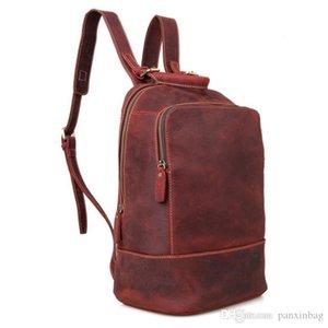 couro verdadeiro bolsa de ombro de couro de cavalo louco retro homens de comércio exterior e mulheres Backpack adequado