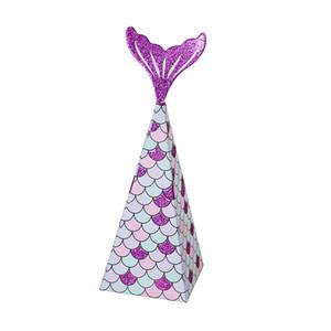 OurWarm Renkli Denizkızı Hediye Çanta Küçük Denizkızı Parti Çanta Şeker Kutuları Baby Shower Favor Mermaid Çocuklar doğumgünü hediye Malzemeleri