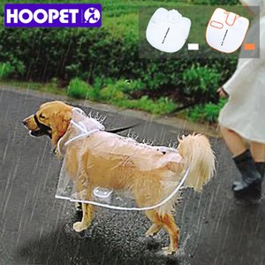 HOOPET Dog Raincoat big Dog Medium-sized Dogs Pet Waterproof Clothing Jacket Clothes Puppy Casual CX200629