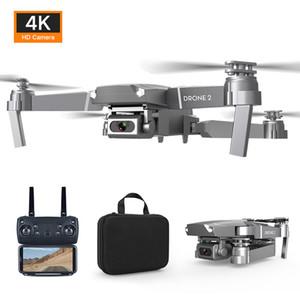 E68 RC Flugzeuge, 4K HD-Kamera WIFI FPV Drone, Sprachsteuerung, Spurflug UAV, einstellbare Geschwindigkeit, Geste Foto Quadcopter, für Kind-Geschenk, 2-1