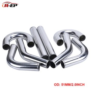 R-EP Universal-51mm 2inch Cold Air Intake Pipe for Rennwagen Kompressor Air Flow 0/45/90/180 Degrees L T / S-Typ Aluminium-Rohr