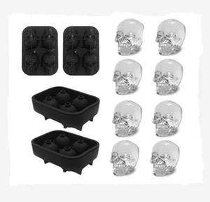 3D Kafatası Buz Kalıp -2 Parça, Silikon Kalıp, 8 Sevimli ve İlginç Buz Kafatası, Viski, Kokteyller ve Meyve Suyu İçecek İçin Uygun