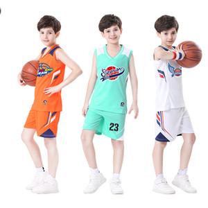 2020 Kids Basketball Jerseys Custom Cheap Basketball Uniforms for Boys Breathable Basketball Shirt Shorts Sports Training Clothes DIY