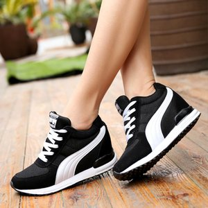 Hot Sale-Height Increasing Sneakers Women Platform Wedges Shoes Shoes Woman White Chunky Sneakers