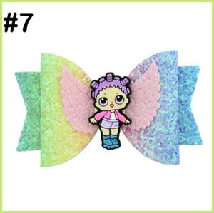 libre Nœuds de cheveux de poupée paillettes d'expédition avec des clips de suprises bowsDolls fille arcs cheveux pour enfants fille Accessoires de cheveux