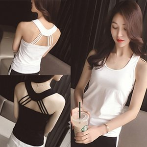 2020 all-match sexy small camisole women's back cross belt slim inner cover with vest Shirt vest clothes base shirt