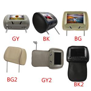 Universal 7 pouces écran LED MP5 voiture Moniteur appuie-tête AV support / voiture USB / SD DVD