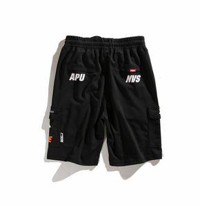 AAPE pantalones cortos para hombre del diseñador del Mens pone en cortocircuito los pantalones de la nueva manera ocasional del verano de los hombres de mesa estilo de natación Pantalones cortos para hombre del diseño