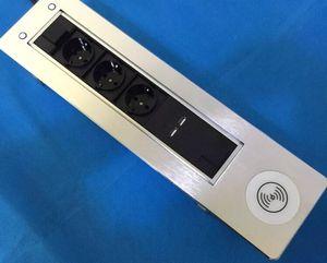 конференц-стол моторизованный стол электрический флип вверх выход / мобильный беспроводной зарядное устройство настольная электрическая розетка