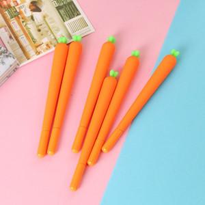 0.5mm İğne Kalem Yaratıcı Sevimli Siyah Dolum Nötr Kalem Kırtasiye Kore Kişiselleştirilmiş İmza Jel Kalemler Öğrenci Havuç Su Bazlı Kalem