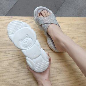 Goddess2019 Femme Pantoufle Fée Le Vent All-Match Chaussures D'été Autres Vêtements Plat Fond Bride Rome Little Sandals Sandals