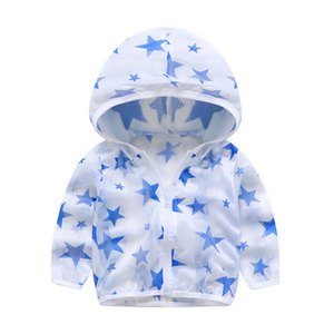 2020 Summer Children's Hooded Sun Protection Clothing Outwear Long Sleeved Air Conditioning Shirt Baby Boy Girl Clothes Hoodies