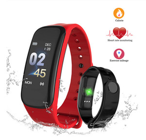 C1Plus Smart-Armband-Blutdruck Fitness C1 Plus-Smart-Armband Sport Smartband Herzfrequenzmesser Armband camare Fernbedienung