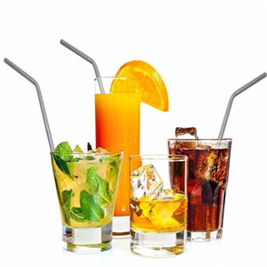 20 oz Stainless Steel Straight Drinking Straw Friendly Straight Metal Drinking Straw Reusable Straws For Beer Fruit Juice Drink c429