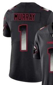 Negro de humo de forma limitada los hombres del jersey de Arizona 1 Jersey crea todos los jerseys de fútbol americano Equipos