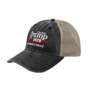 Brand New Fashion Mesh Traspirante Berretto Da Baseball Cappello Cosplay Coser Trump 2020 Estate Mesh Net Trucker Hat Cap Uomini Grigio Nero