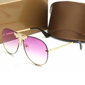 2019 럭셔리 패션 선글라스 여성 남성 금속 태양 안경 100 % 자외선 보호 안경 6 색 차양 고글에 대한
