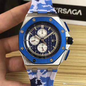 montres AP34 Designer Montres Hommes de montres de luxe Mouvement, chêne royal, mouvement précis, 42mm beau boîtier en acier, verre résistant minéral, rubb