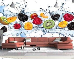 Parete personalizzato pittura Sfondo Fresh Fruit Foto Wallpaper Ristorante Salotto Cucina da parati non tessuto carta da parati moderna